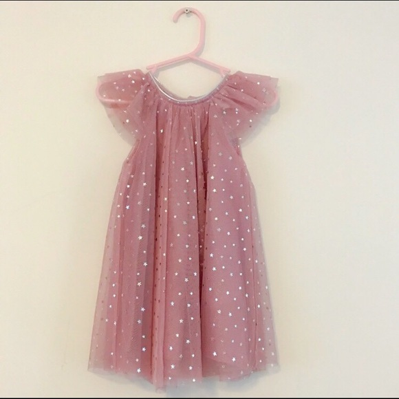 678288d14ea h m Other - H M Pink Tulle Silver Star Dress Girl 12 18 Months